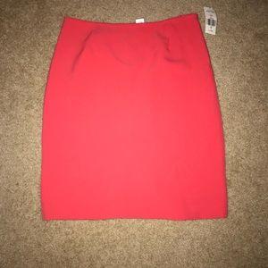 Tahari Coral color pencil skirt!